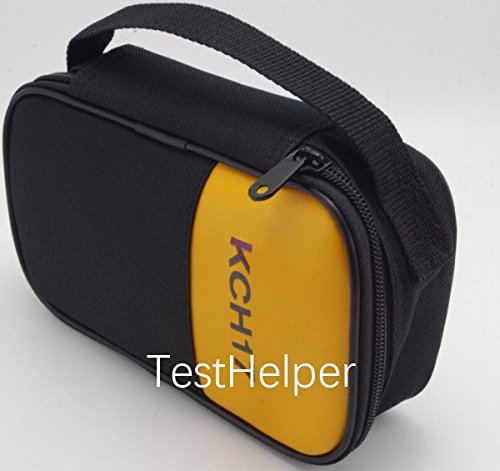 TestHelper KCH17 Soft Carrying Case Use For Handheld Multimeter,Meter,Phase Indicator,Thermometer, Calibrator,Clamp meter,Soft Bag