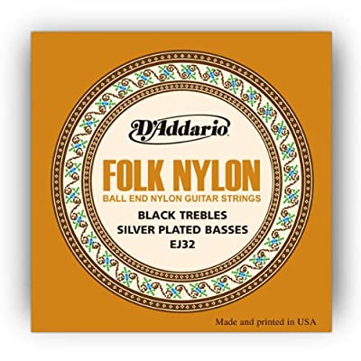 D'Addario Folk Nylon Guitar Strings Ball End Silver