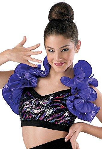 Balera Dance Costume Satin Ruffle Shrug