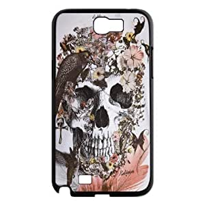 Birl Skull Skeleton Samsung Galaxy Note 2 Case, Dustin - Black