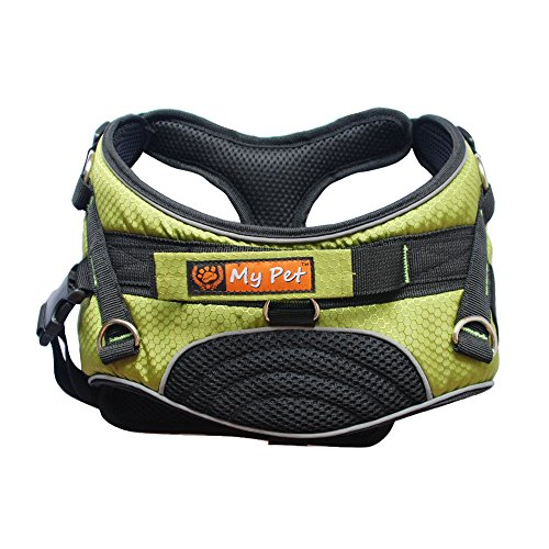 MY PET for Dog Harness Training Walking Soft Support & Rehabilitation Green L (Pattern Dog Harness compare prices)