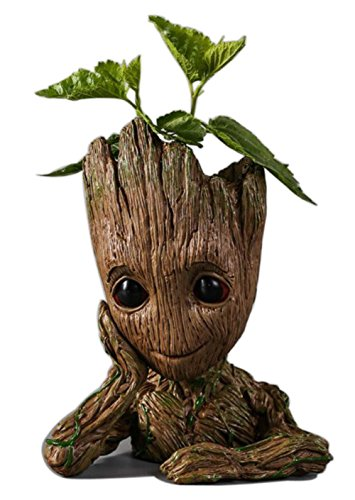 GoGoGoodie Creative Guardians of The Galaxy Flowerpot Tree Baby Cute Action Figures Model Pot Best Gifts For Kids