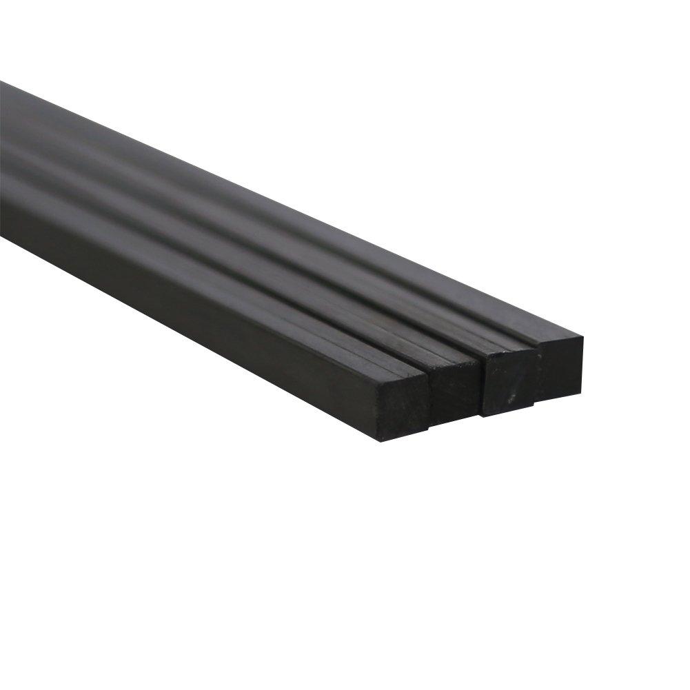 SHINA 2Pcs 6.1 X 500MM 3K Carbon fiber Solid Rod Bar Tube for Kites, RC Airplanes Quadcopter, Drones, Multirotors 2XTXW-SXFB-6.1-6.1