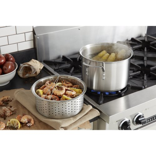 Amazon Calphalon Classic Stainless Steel 8 Quart Stock Pot With Steamer And Pasta Insert Kitchen Dining