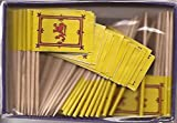25 Box Wholesale Lot of Scotland Lion Toothpick Flags, 2500 Small Scottish Lion Flag Toothpicks or Cocktail Picks