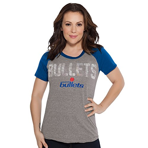 Touch by Alyssa Milano NBA Washington Bullets Conference Tee, X-Large, Heather Grey