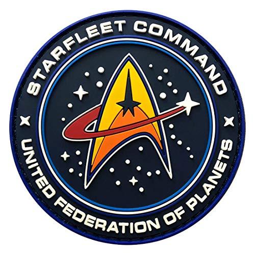 Miltacusa Star Trek Starfleet Command Hook Patch [3D-PVC Rubber-3.0 - Trek Star Patches