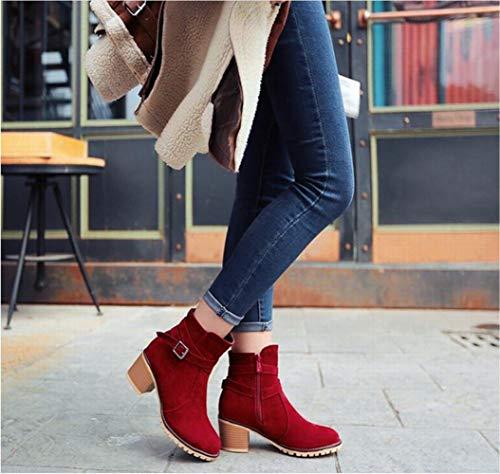 Antiscivolo Calde Xe 36 Punta scarpe Stivali A Di Da stivali Vacchetta Donna Avanzati 43 Rosso 4Pv4nr