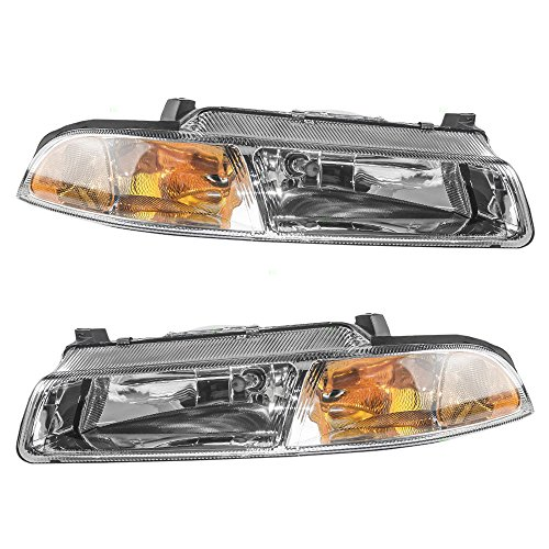 Driver and Passenger Headlights Headlamps Replacement for Dodge Chrysler Plymouth 4630873AB 4630872AB AutoAndArt