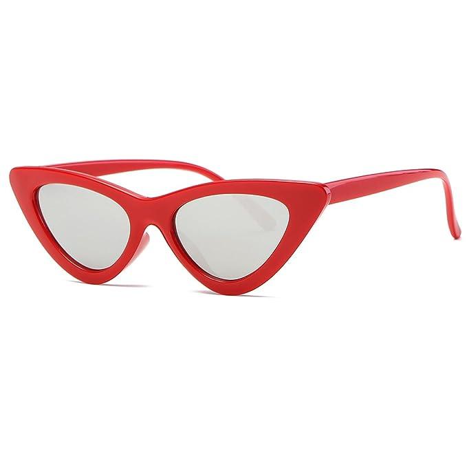 42d70748c8 Kimorn Cat Eye Sunglasses Women Clout Goggles Kurt Cobain Retro Sun Glasses  K0566 (Red Silver)  Amazon.ca  Clothing   Accessories