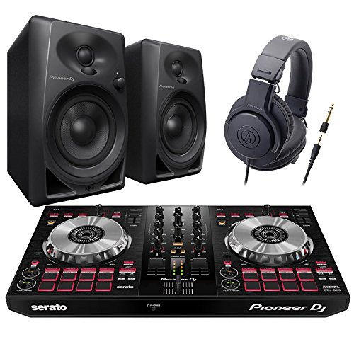 [해외] Pioneer DDJ-SB3 + DM-40-B(스피커) + ATH-M20x(헤드폰) DJ초심자 세트 DJ세트 파이오니아