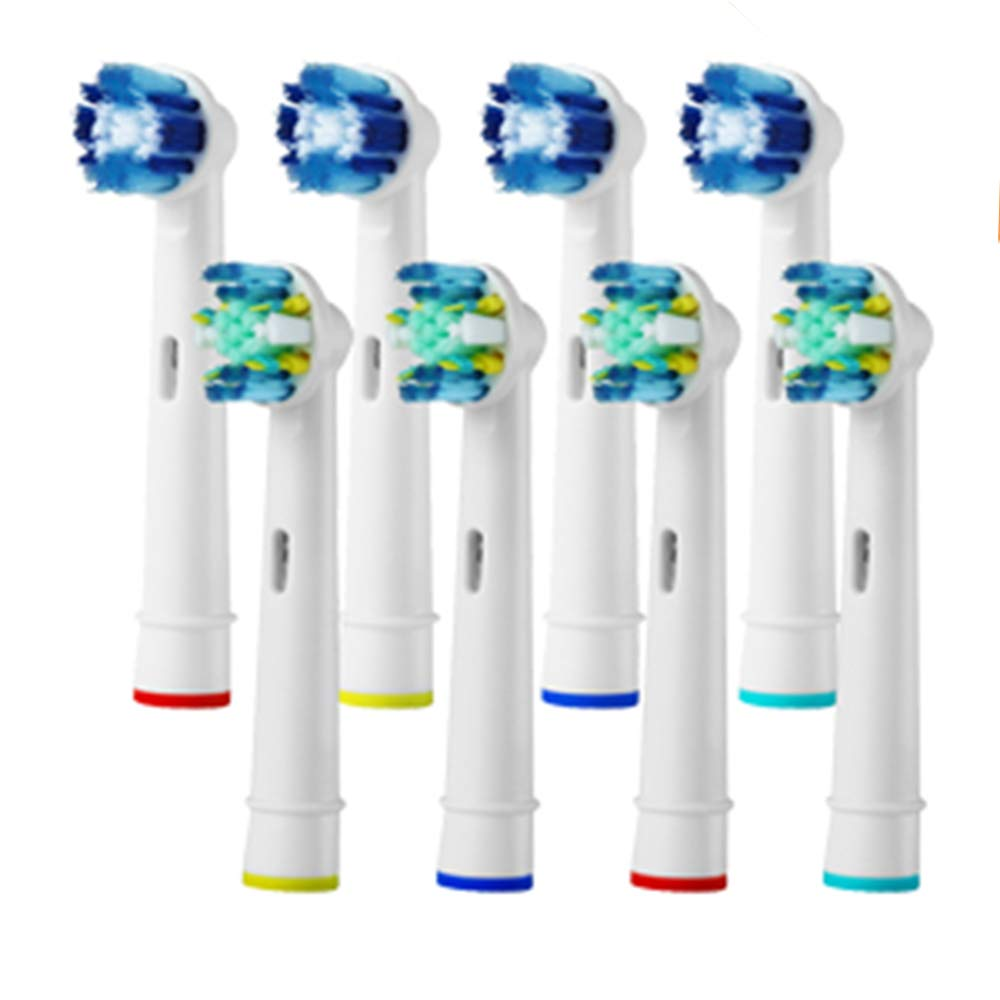 Generic Toothbrush Replacement Heads Refill for Braun Oral-B Electric Toothbrush Pro 1000 Pro 3000 Pro 5000 Pro 7000 Vitality Floss Action + Precision Clean 8Pcs