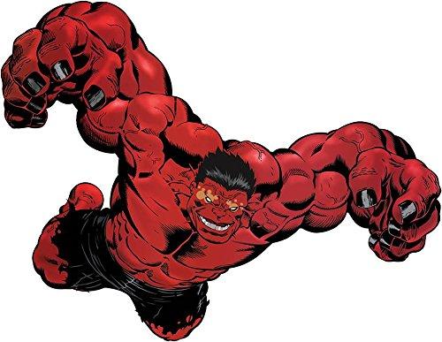 RED HULK Avengers Decal WALL STICKER Home Decor Art Comics Bedroom C454, Large