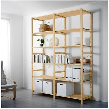 IKEA 2 sección – Estantería, pino, 68 1/2 x 19 5/8 x 89 ...