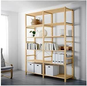 IKEA 2 sección – Estantería, pino, 68 1/2 x 19 5/8 x 89