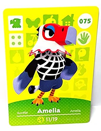 Amiibo Card Animal Crossing Happy Home Design Card AMELIA 075/100 by ...