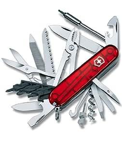 Victorinox Swiss Army CyberTool 41 Translucent Pocket Knife (Translucent Ruby)