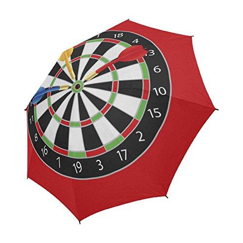 InterestPrint ADEDIY Umbrella Dartboard With Darts On Bullseye Semi-Automatic Foldable Travel Umbrella Rainy Sunny Gift
