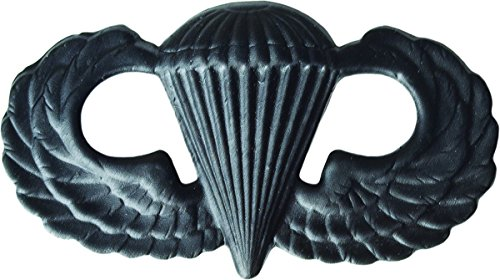 (Parachutist Basic - Metal Insignia - Black - Full Size )