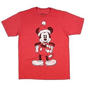 Disney Boys' Mickey Mouse Shirt Santa With Scarf Holiday Season Youth Kids T-Shirt