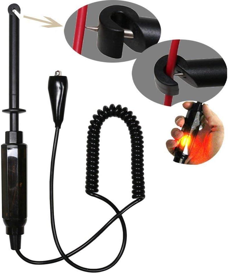 Testeur de circuit /électrique automobile Enshey testeur-perceur de fil /électrique 6-12-24/V forme stylo avec sonde de type crochet