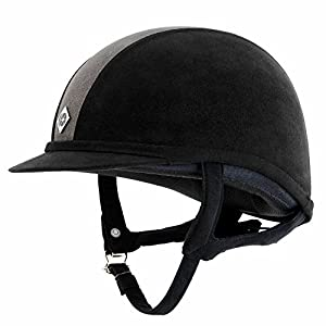 Charles Owen GR8 Riding Hat Helmet Black and Black/Charcoal
