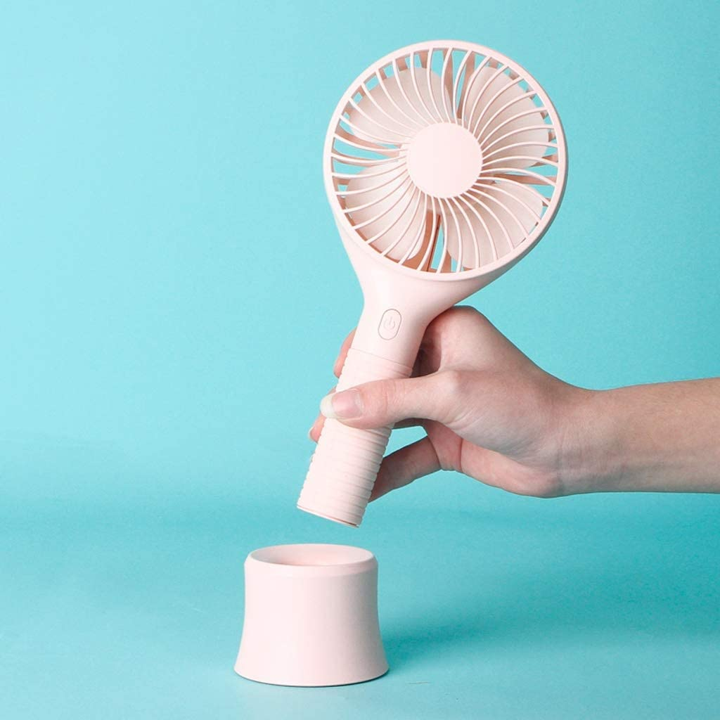 Hhxiao Portable Small Fan USB Rechargeable Classroom Desk with Small Fan