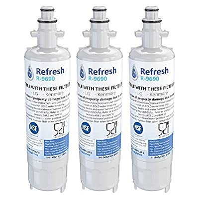 Kenmore LG, 46-9690, LT700P, ADQ36006101, ADQ36006102, 048231783705, LT700 9690 Replacement Refrigerator Water Filter, White