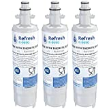 Kenmore 46-9690/LG LT700P, ADQ36006101 Compatible Refrigerator Water Filter - fits Kenmore ADQ36006102 & LG Refrigerator Water Filters by Refresh (3)