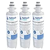 Refresh Replacement Refrigerator Water Filter Compatible with Kenmore 46-9690, ADQ36006102 and LG LT700P, ADQ36006101 (3 Pack)