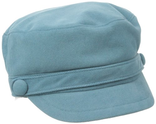 (San Diego Hat Company Women's Sueded Corduroy Greek Fisherman Hat, Teal, One Size)