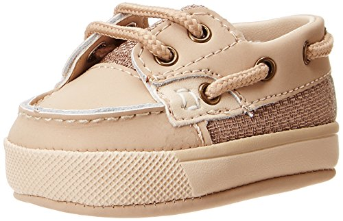 Baby Boat Shoes (Baby Deer Deck Crib Shoe (Infant/Toddler),Tan,2 M US Infant)
