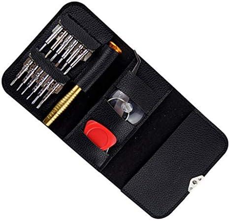 精密ドライバーセット(16個) スマホ修理工具キット レザーケース付き