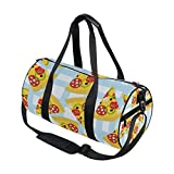 Use4 Plaid Check Pizza Food Travel Duffel Bag Sport Gym Luggage Bag for Men Women