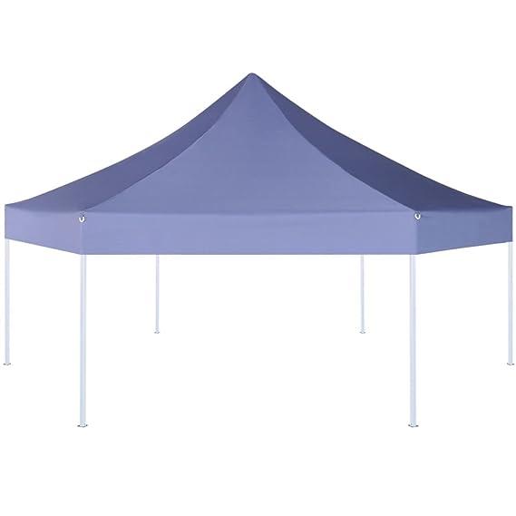 Furnituredeals Cenador con Cortina Marquesina Hexagonal Desplegable Azul Oscuro 3, 6x3, 1 m Carpas Plegables: Amazon.es: Jardín