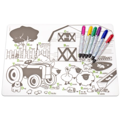 Modern twist Mark Mat Coloring Silicone Placemat product image