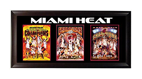 Encore Select 302-19 NBA Miami Heat Champions 3-Photo Frame, 15-Inch by 35-Inch Deluxe Frame Miami Heat