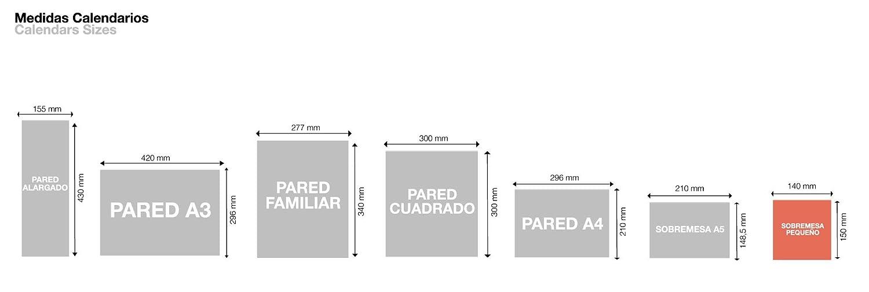 Calendario de Sobremesa 140 x 150 mm para escribir Gris 2020 B/ásico Catal/án Miquelrius 28350