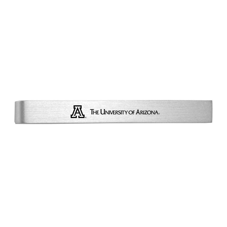 University of Arizona-Brushed Metal Tie Clip-Silver