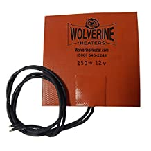 Wolverine Heaters - Small Reservoir and Hydraulic Fluid Heater 250 Watts - 12 Volt - 5 inch X 5 inch