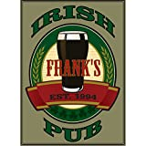 Custom Metal Bar Man Cave Wall Sign with Man Cave Irish Pub Design perfect Personalized gift for Bestman, Groomsmen gift Him