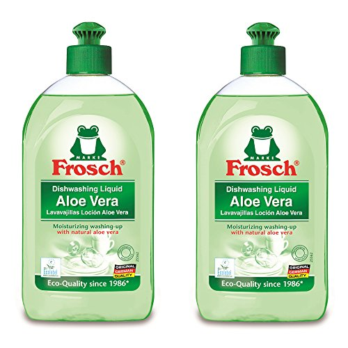 Frosch Natural Aloe Vera Liquid Hand Dish Washing Soap, 500 ml (Pack of 2)