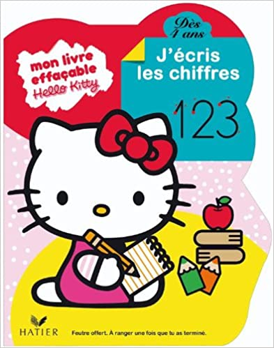 Livre gratuits en ligne Hello Kitty - J'écris les chiffres dès 4 ans - livre ardoise pdf epub