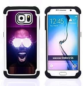 - Neon Glow Party Glasses - - Doble capa caja de la armadura Defender FOR Samsung Galaxy S6 G9200 RetroCandy