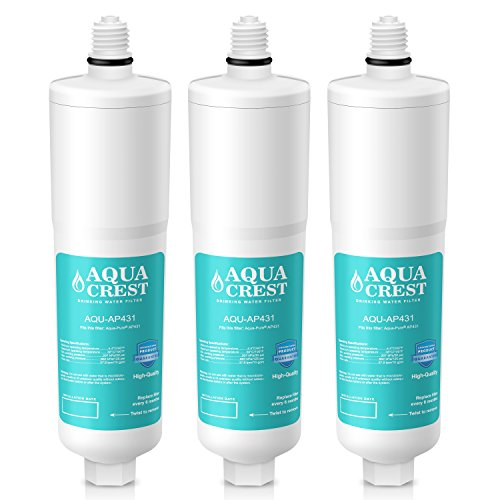 AQUACREST AP431 Replacement for Aqua-Pure AP431 Scale Inhibition Water Filter for AP430SS (Pack of 3) by AQUA CREST