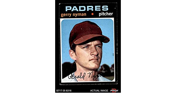 1971 Topps #656 Gerry Nyman San Diego Padres Baseball Card