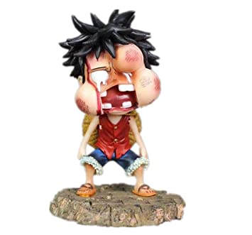 Amazon Com One Piece Swollen Face Monkey D Luffy Figure