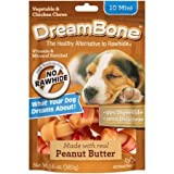 DreamBone Vegetable and Chicken Peanut Butter Mini Dog Chews, 10-Count, 5.6 oz (1)