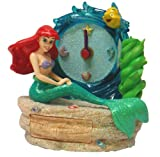 Little Mermaid Pen Holder w/Clock & Drawer