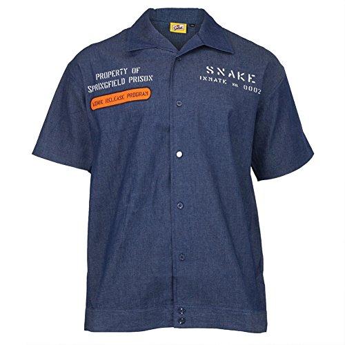Click for larger image of Simpsons - Mens Prison Uniform Workshirt Large Blue